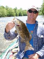 Fishing trips Asheville NC, quality float fishing for smallmouth bass.